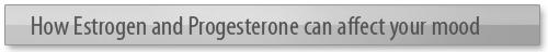 Estrogen Progesterone hormone booster improves mood